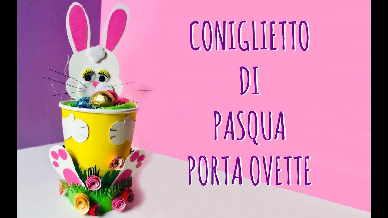 Coniglietto Di Pasqua Con Un Bicchiere Di Carta Pasqua Creativita