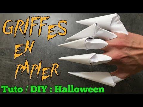 Download Tuto / DIY Halloween : Griffes de Monstre en Papier