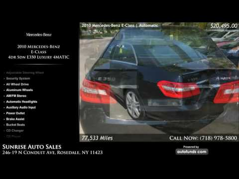 Used 2010 Mercedes-Benz E-Class | Sunrise Auto Sales, Rosedale, NY