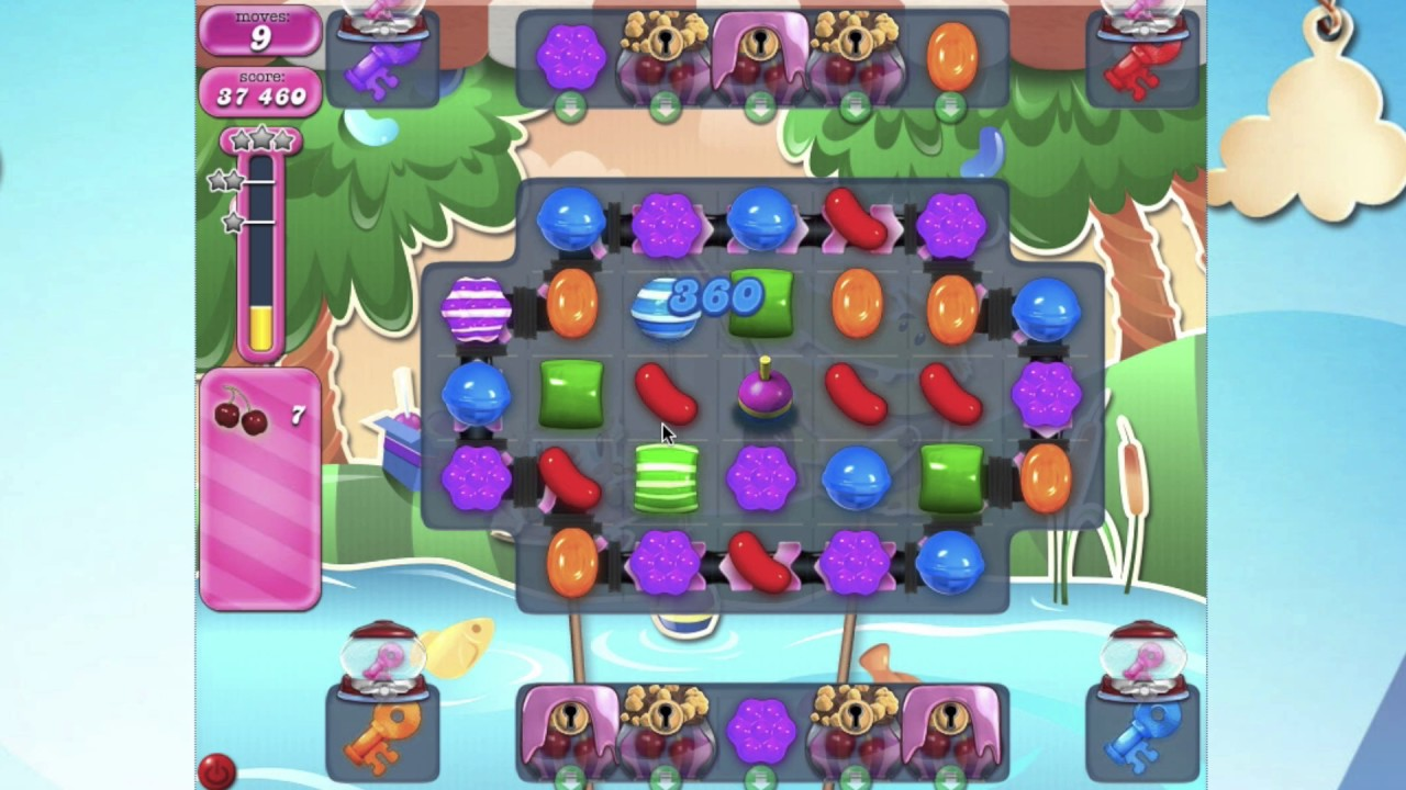 Candy crush saga level 2409 no booster fish bobber youtube for Candy crush fish