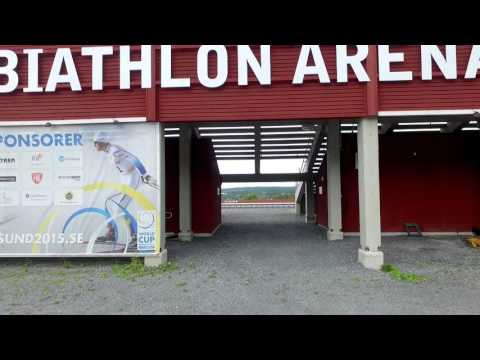 Kända byggnader och landmärken i Östersund, filmat under 2014 och 2015