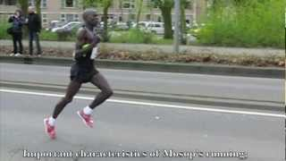 Moses Mosop (Kenya) Running technique / Looptechniek