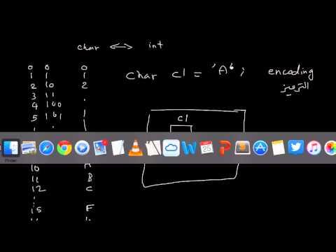 أنواع البيانات - الحرف والترميز - char and unicode encoding