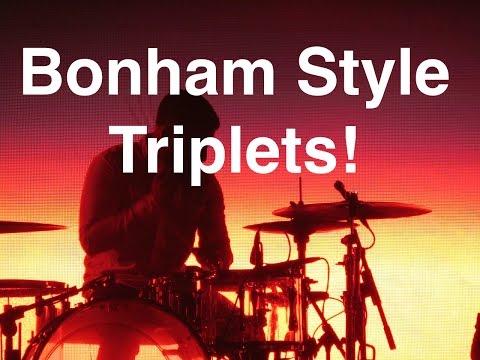 Basic Triplets For Drummers | John Bonham Style Triplets