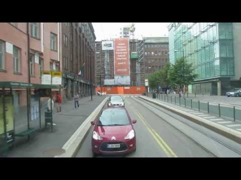 Tram No.2 Helsinki Finland (Kamppi - Kauppatori)