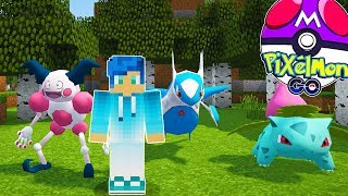 CAPTURO MI POKEMON LEGENDARIO FAVORITO Y POKEMON FUERTES 😱 PIXELMON GO MINECRAFT POKEMON MOD 1.10.2