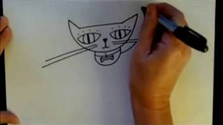 How To Draw A Cartoon Cat Easy Drawing Tutorial