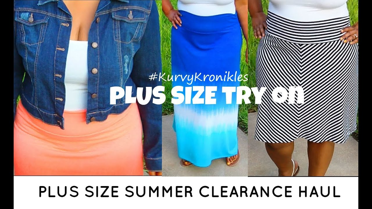 89873d8e7e4 Plus Size Try On | Summer Clearance Haul | Walmart - YouTube