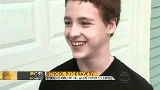 Teen saves classmates when bus driver falls ill