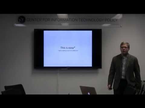 CITP Luncheon Speaker Series: Joshua Kroll – Accountable Algorithms