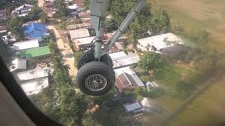 Plane landing in guwahati airport