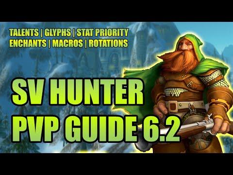 WoD 6.2 Survival Hunter PvP Guide: Talents, Glyphs, Stat Priority, Enchants, Macros, Rotation SV