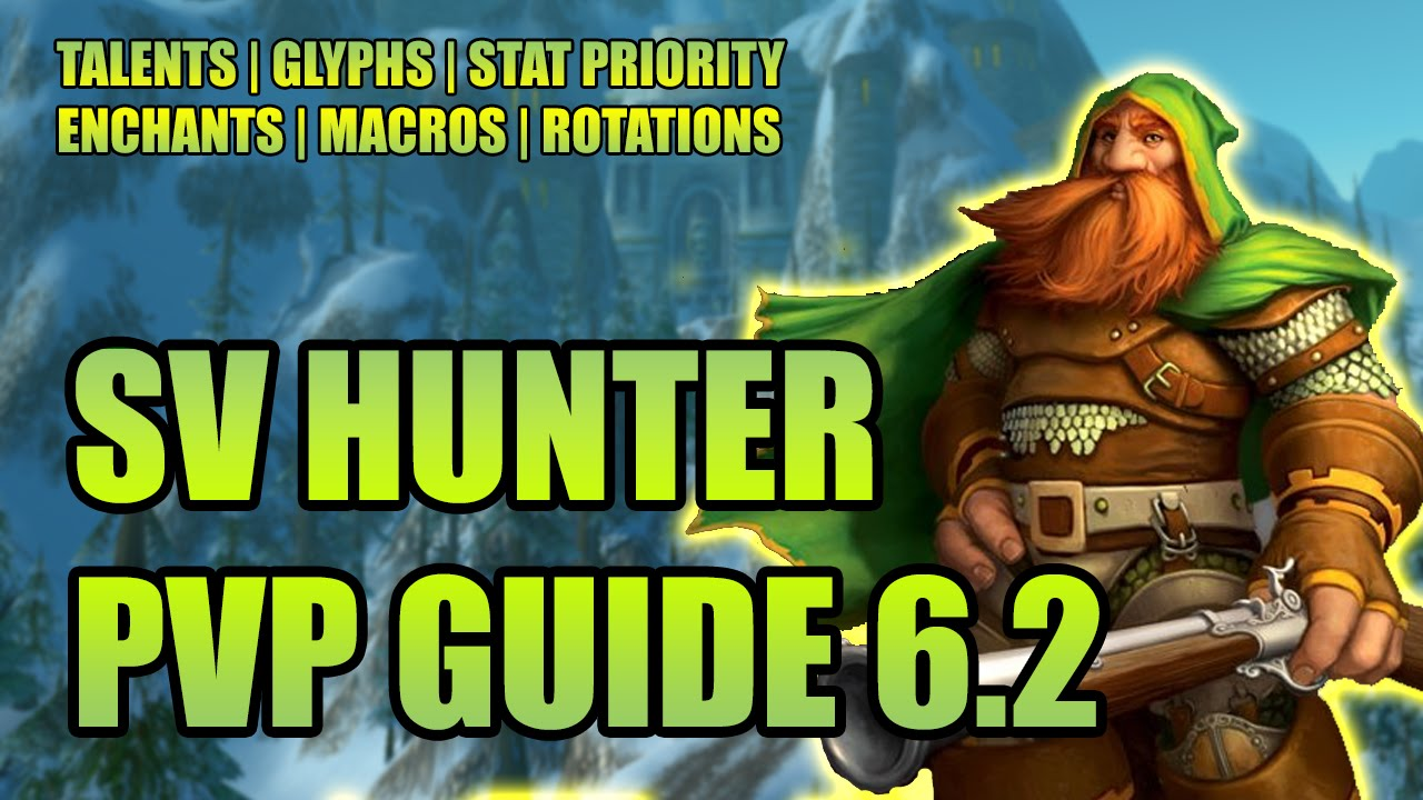 Wod 6 2 survival hunter pvp guide talents glyphs stat priority