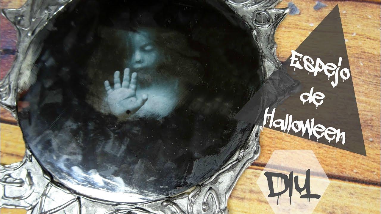 C mo hacer un espejo para tu decoraci n de halloween youtube for Como hacer un espejo