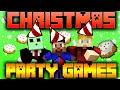 Minecraft CHRISTMAS Party Games #1 with Vikk, Pete & Lachlan