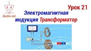 Урок 21. Электромагнитная индукция | Трансформатор