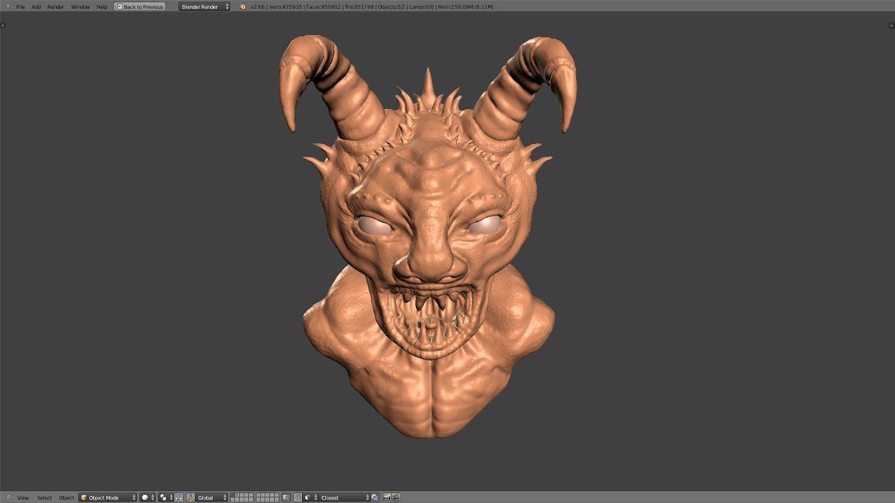 Blender Tutorial Sculpting In Blender Part 1 Of 2 Youtube