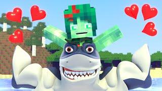Minecraft Life Shark of ZomBo & Zomma   Noob vs Pro   Minecraft Animation