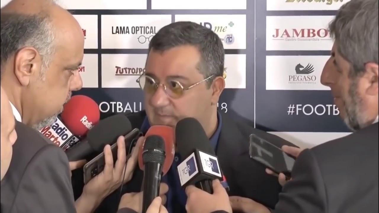 """Raiola show: """"Balotelli il migliore, Donnarumma a vita al Milan"""""""