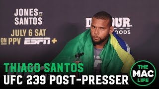 UFC 239 Post Fight Press Conference: Thiago Santos