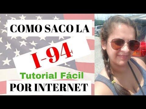 Como SACAR la I-94 por INTERNET - Como LLENARLA - Video Tutorial