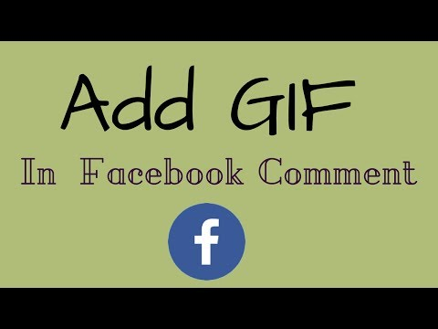 How To Add GIF In A Facebook Comment