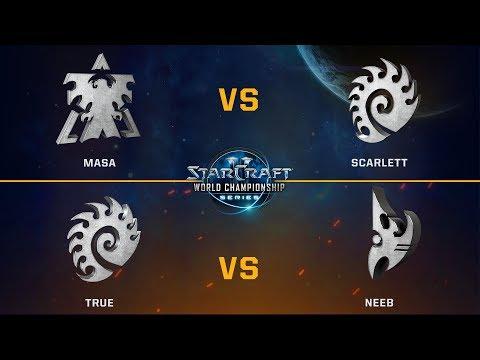 StarCraft 2 - MaSa vs. Scarlett / True vs. Neeb - WCS Valencia Challenger NA - Playoffs