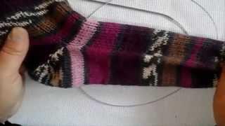 Как связать носки от мыска Ч.1&Socks from the toe of the spokes P.1