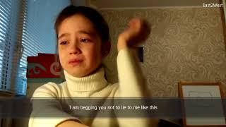 Heartbroken Russian YouTube star Alina, 10, in tears....