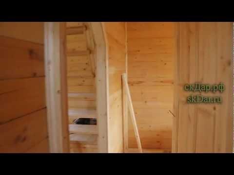 видео: дом из бруса с эркером