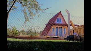 Hobi Bahçesi Ahşap Üçgen Ev Yapımı (homemade, triangular home made, hobby garden construction)