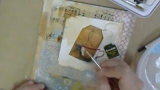 Чайные пакетики в микс медиа Mixed Media и скрапбукинге: видео урок Натальи Жуковой