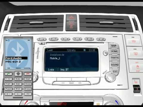 ford travelpilot fx sistema di navigazione collegamento del telefono cellulare youtube. Black Bedroom Furniture Sets. Home Design Ideas