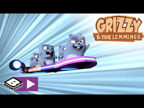 Grizzy & the Lemmings | Hover Board | Boomerang Africa