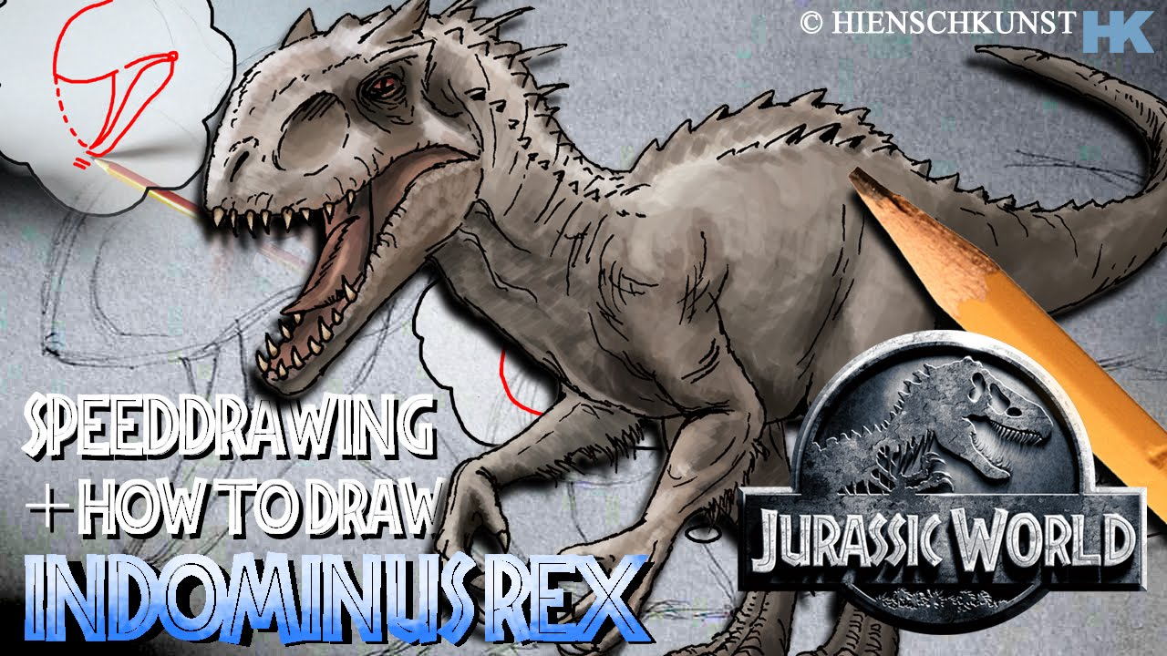 How to draw indominus rex scales jurassic world youtube - How To Draw Indominus Rex Scales Jurassic World Youtube 6