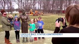 New sculptor will fix village's 'Scary Lucy' statue of Lucille Ball, Mayor says