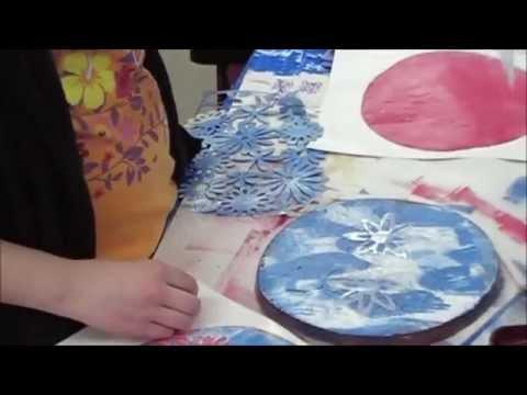 Progressive Art-Gelli Printing