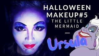 halloween makeup|烏蘇拉 Ursula 迪士尼反派VS公主喪屍 萬聖節合作影片 | ハロウィン メイク