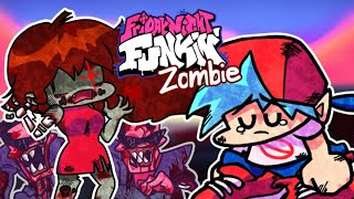 [FNF] 결국 좀비가 되어버린 GF (가사 첨부) 【 Friday Night Funkin' Zombie Girlfriend mod (GF mod) Lyrics 】
