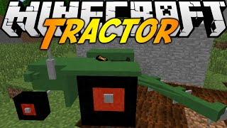 Minecraft Mods: TRACTOR MOD (1.7.10) - PLOW FIELDS AND MOW!