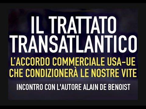 """Alain De Benoist presenta """"Il trattato transatlantico"""""""