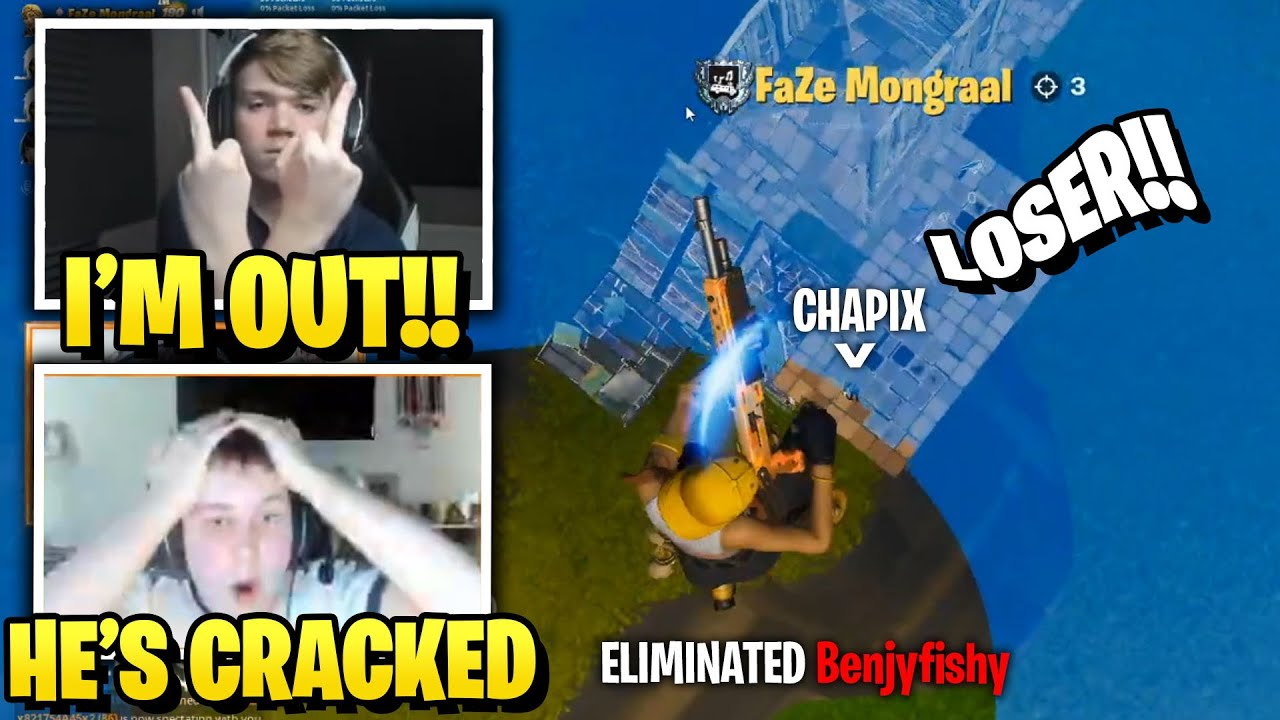 Benjyfishy & Mongraal Gets DESTROYED by Chapix in 4v4 Zone Wars Wagers!