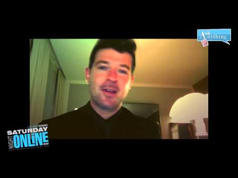 Robin Thicke Interactive Chat w/ Romeo Saturday Night Online  - AskAnythingChat