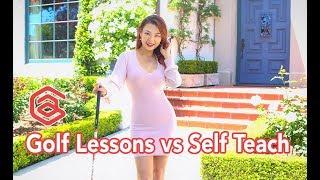 Taking Golf Lessons vs. Self Teach | Golf with Aimee