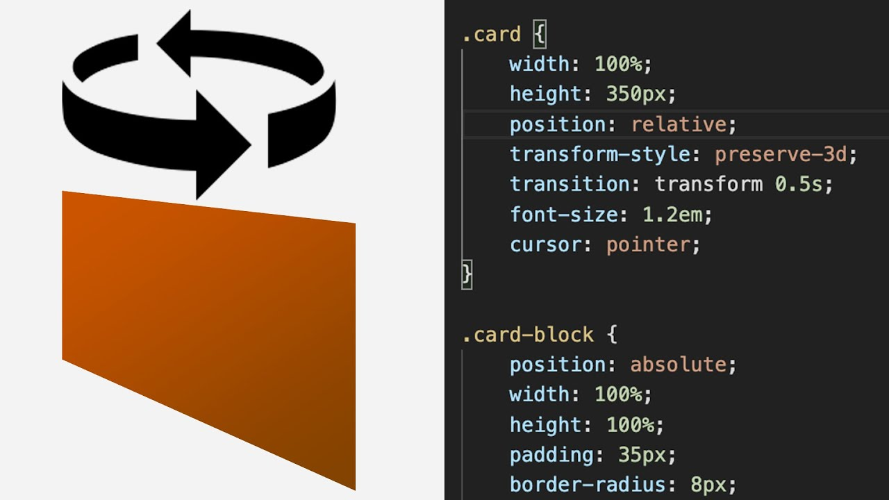 How to Create a 3D Flip card using HTML, CSS and JavaScript
