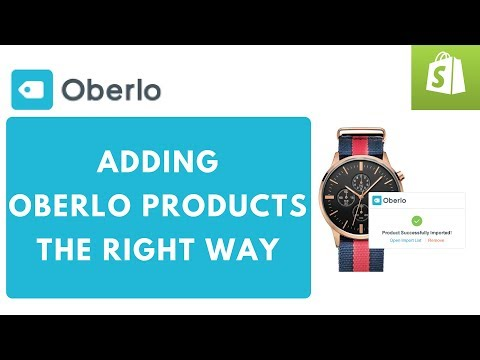 Shopify Oberlo Training 101 Adding Products to My Store
