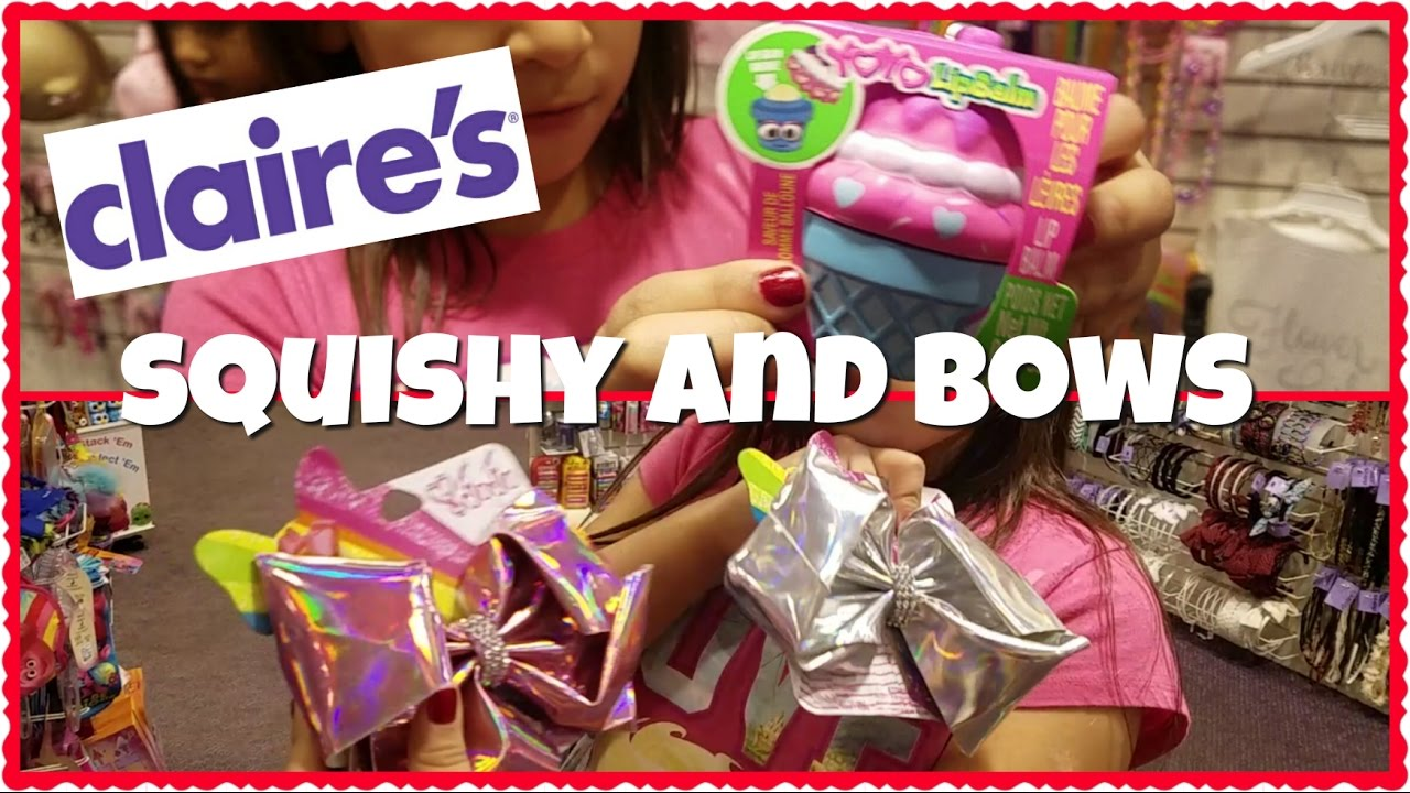 CLAIRE S SQUISHIES AND JOJO BOWS - YouTube