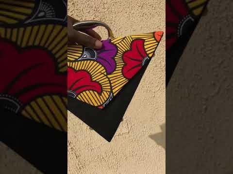 Ankara triangle bag 😍