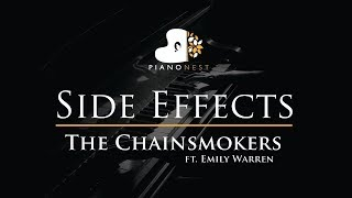 The Chainsmokers - Side Effects ft. Emily Warren - Piano Karaoke / Sing Along Cover with Lyrics