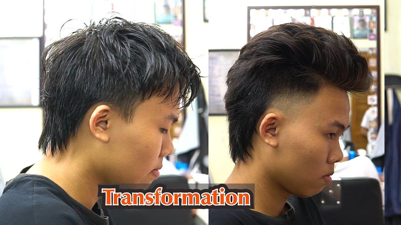 Hướng dẫn cắt tóc kiểu Mullet / Transformation/  in TƯỜNG BARBER